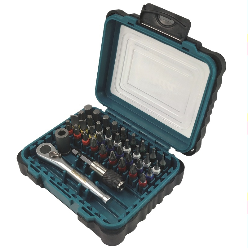 Makita DDF458 18volt l/ion Combi Drill Plus Free 39pc Screwdriver Bit Set (79158) Promotion