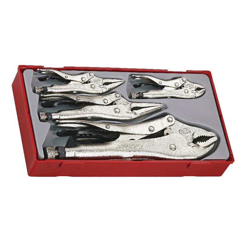Teng 5pc Power Grip Pliers Set TTVG05