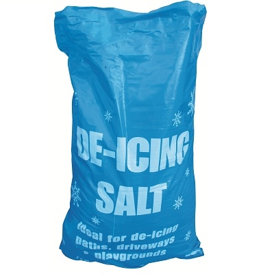 White De-Icing Rock Salt Approx 25kg Bags