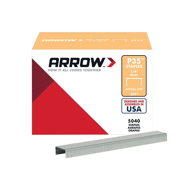 "Arrow P35 Staples 354  1/4""-6mm Box 5000"