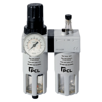 "PCL Filter Regulator & Lubricator, 1/2"" Port Atcfrl12"