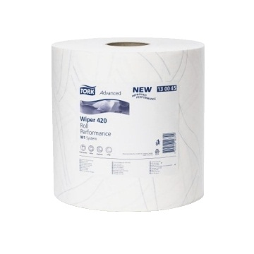 130041 Tork Advanced Wiper 420 w1/w2 255mtr X 24cm X 750 Sheet (pack Of 2)