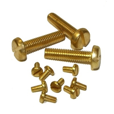 M3 X 6 Pan HD Slot m/t Screws Brass