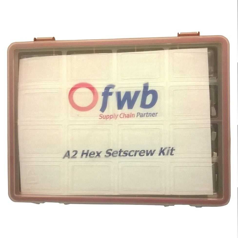 FWB st/st Hex Setscrew Selection Pack A2 Av. Contents 200