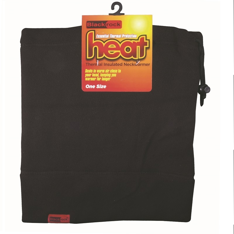 Thermal Neck Gaitor Insulated Fleece Neckwarmer Black Rock