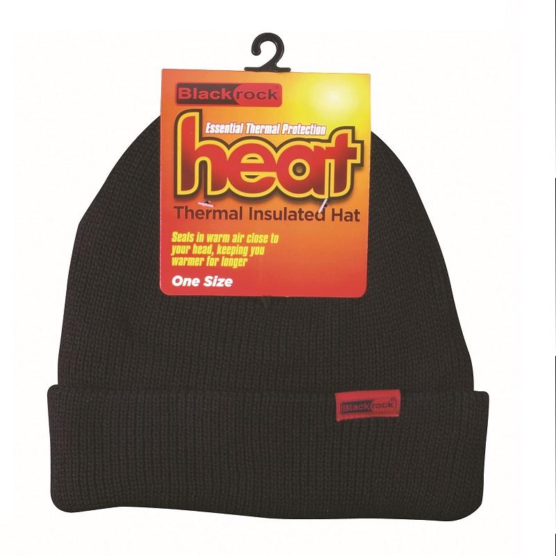 Black Thermal Beanie Hat Black Rock Thermal Insulated