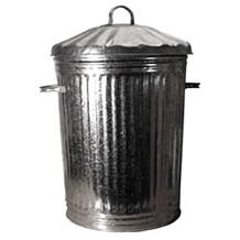 "Tapered 'stacka' Galvanised Dustbins 18"" Dia Gbmt24mr c/w Metal Lid"