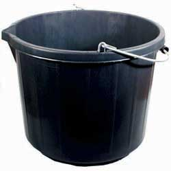 3 Gallon Black Plastic Bucket BB4