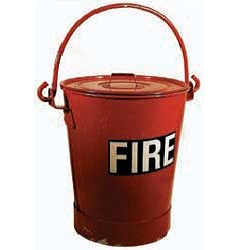 Red Fire Bucketmis021c/w Red Lidmis022 all Steel