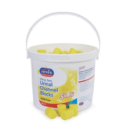 3kg Tub Of Urinal Blocks Citrus 541015 Cubes