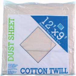Dust Sheet 9ft X 12ft Cotton Twill