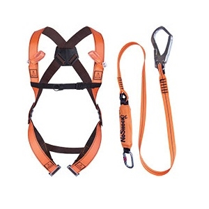 Elara 190 Scaffolding Kit Comprising Safety Harness Fall Arrest Lanyard And Bag 2 Point Anchorage front/rear Size S/m/l Shock Absorbing Webbing Lanyard 2 Metre