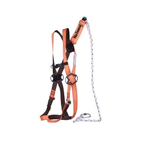 Elara 160 Fall Arrester Kit Comprising Safety Harness Fall Arrest Lanyard And Bag 1 Anchorage Rear One Size (s,m,l) Shock Absorbing Rope Lanyard 2 Metre