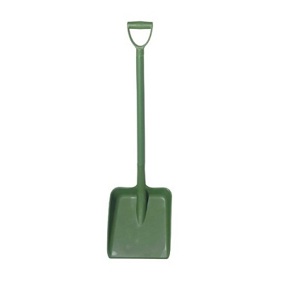 D Grip Polyprop Shovel Green Heavy Duty Blade