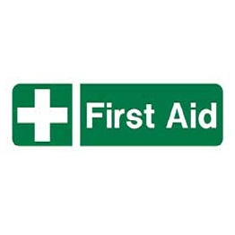 "Sc486a r/p ""first Aid"" Sign 300mm X 100mm"