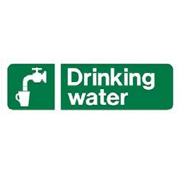 "Sc487a r/p ""drinking Water"" Sign 300mm X 100mm"