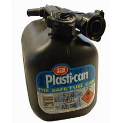 5 LTR Black Plastic Diesel Fuel Can
