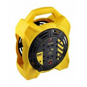 Defender E86550 (box Reel) 15m 4 Outlet With 1.25mm 3 Core Cable 230v 13a c/w RCD Cable Reel