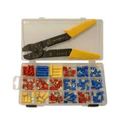 Asst.Crimp Term Set c/w Crimptool r/b c/w Plastic Box. TL10178