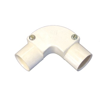 PVC Conduit 20mm Inspection Elbow White