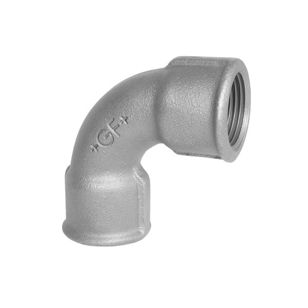 GF Equal Female 90 Degree Bend, Galvanised Malleable