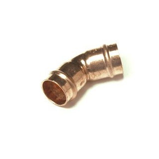 45 Degree Elbow Solder Ring Fitting Co21