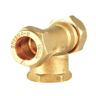 C X C X Fi Reducing Tee Brass Compression Fittings