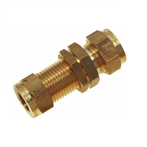 Wade equal ended bulkhead couplings parts to