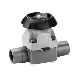 GF Type 315 Abs Diaphragm Valve With Solvent Cement Spigots
