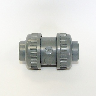 Abs Plain Double Union Check Valve (epdm)