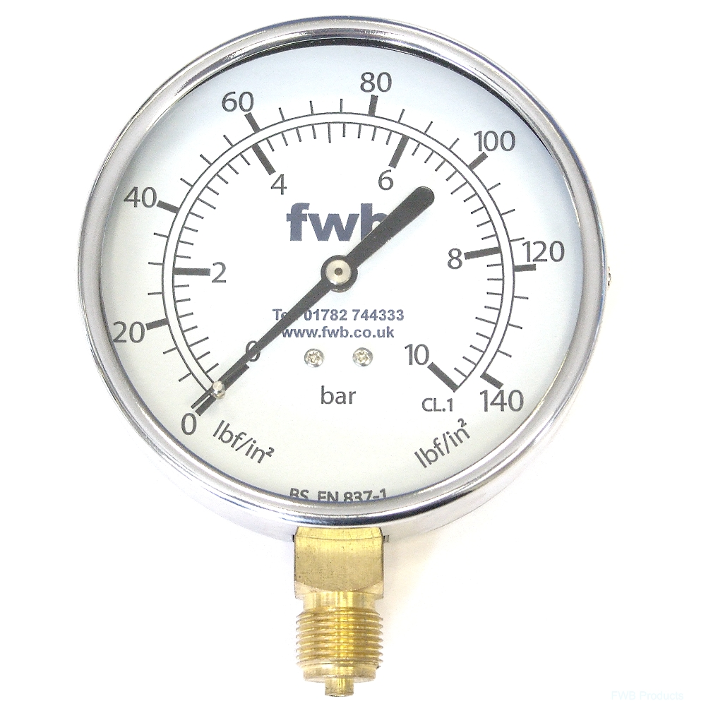 Pressure Gauges, 100mm Diameter