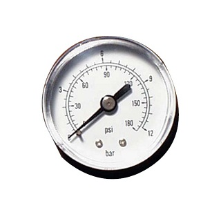 40mm Dry Pressure Gauge (rear Connection)