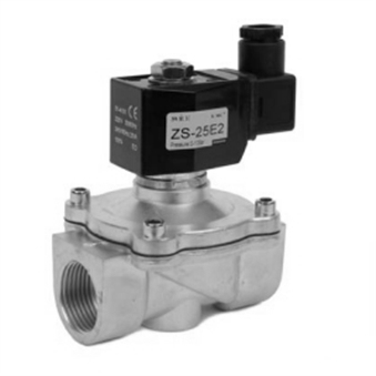 ZS Series 2 Port, 2 Way Solenoid Valves, Nitrile Seals & Stainless Steel Bodies, Zero Pressure Differential, Normally Open