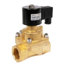 THP Series 2 Port, 2 Way Solenoid Valves, Ptfe Seals & Brass Bodies, Normally Closed