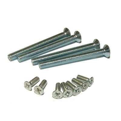 M8 Countersunk Head Pozi Machine Thread Screws BZP