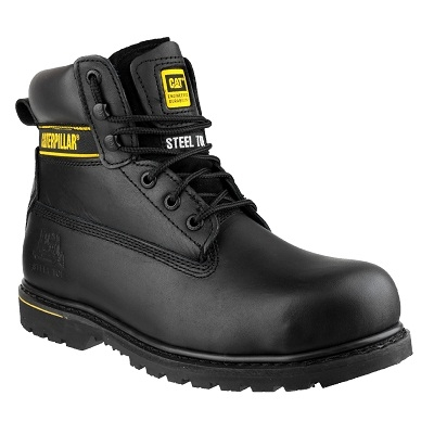 Cat Holton Black Safety Boot