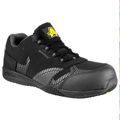 Amblers Black Waterproof Composite Safety Trainer Fs29c