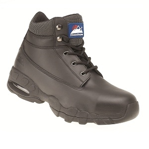 Himalayan Black Leather Safety Boot - 4040