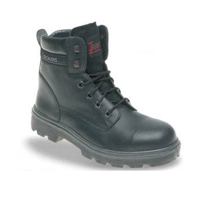 Toesavers 1900 Black Leather Safety Boot