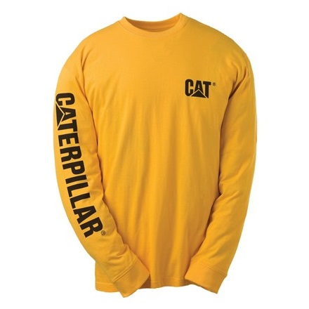 Caterpillar  Long Sleeved T-Shirt, Yellow & Black