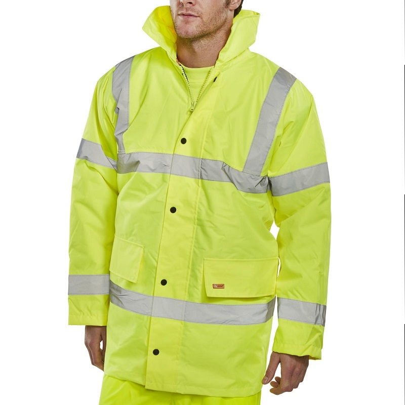 Waterproof High Visibility Coat - Class 3