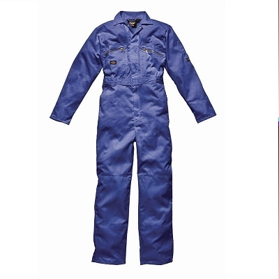 Dickies Royal Zip Front Redhawk Coverall