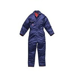 Quilt Lined Royal Blue Overalls