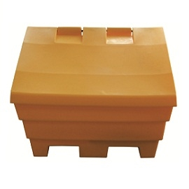 Yellow salt/grit Bin