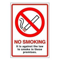 No Smoking Premises Signage