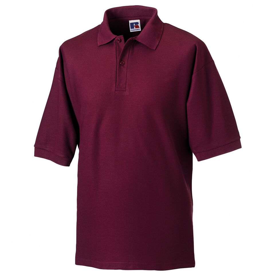 Short Sleeve Polo Shirt - Burgundy