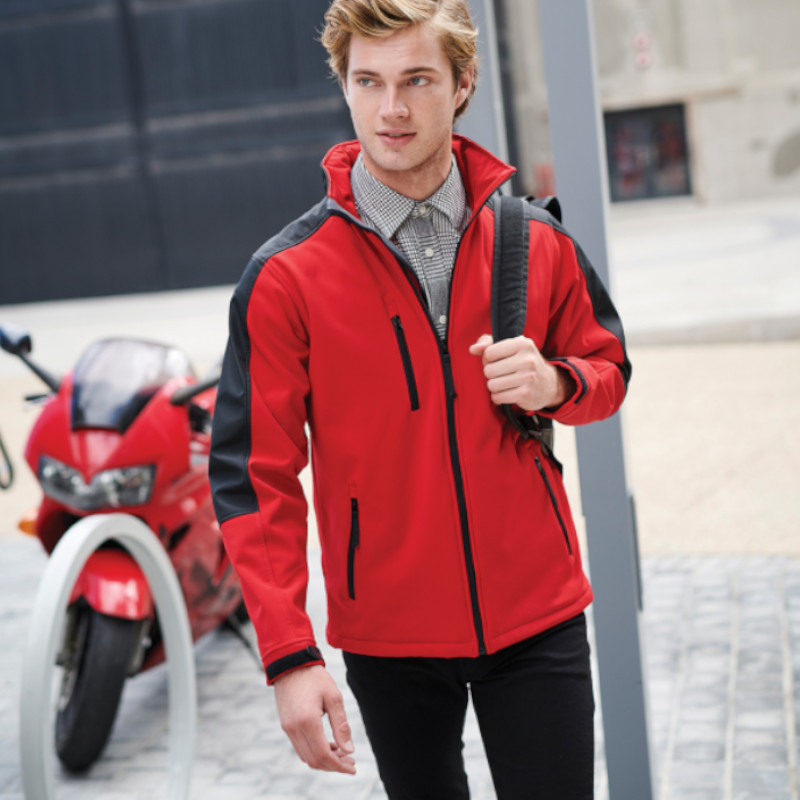 Dickies Two-Tone Softshell Jacket, Red And Black