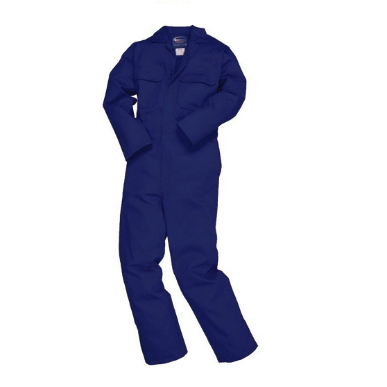 "Bizweld Coverall Navy Flame Retardant Tall 33""i/l"