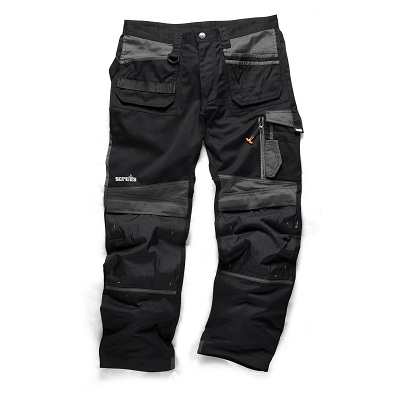 Scruffs 3d Black Trade Trousers
