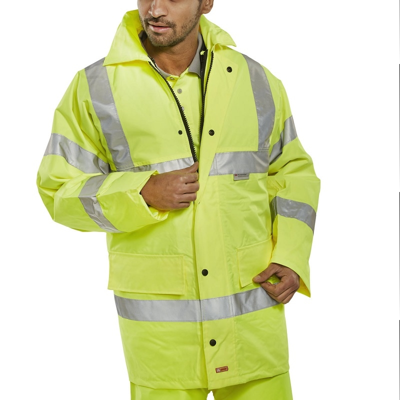 4 In 1 High Visbility Jacket Yellow With Bodywarmer Beeswift TJFSS